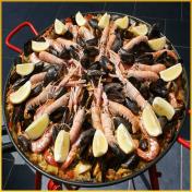 Paella gourmande à domicile